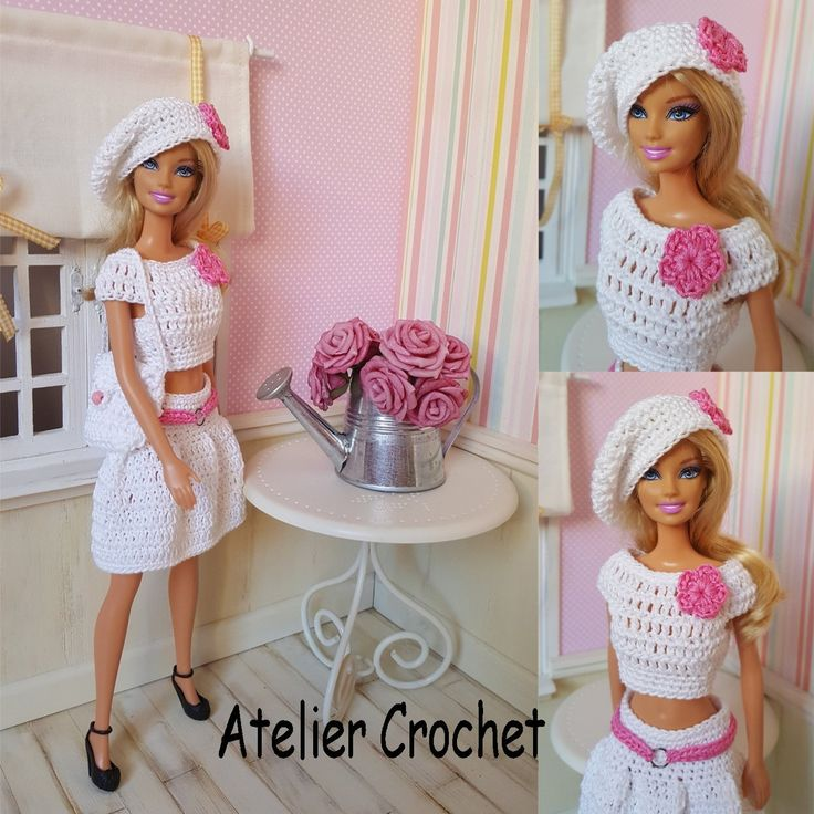 137- FICHE PATRON CROCHET Rosanna pour poupée Barbie : Jeux, jouets par atelier-crochet