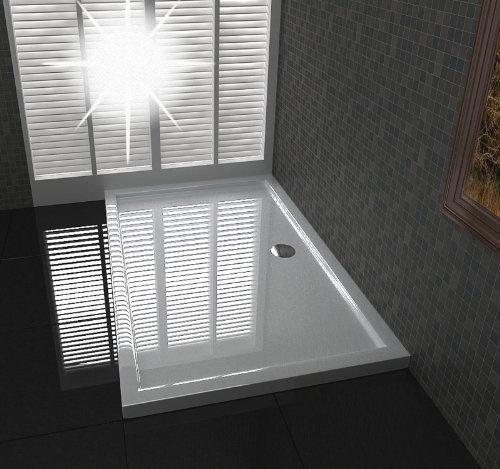 duschtasse duschwanne extra flache 4 cm h he 120x90 cm ablaufgarnitur in der mitte von. Black Bedroom Furniture Sets. Home Design Ideas