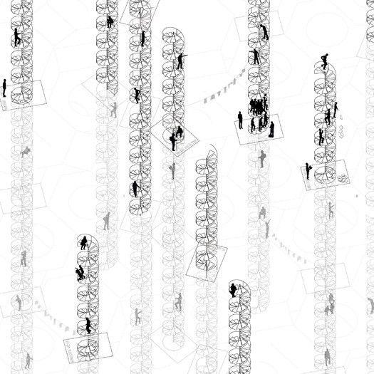 Rice+Lipka, SUMO y Bernheimer arquitectura crearon los planos que detallan una de las construcciones más complejas de la literatura: La biblioteca de Babel.