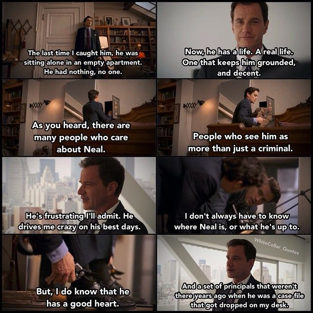 Loved this scene when Peter showed such support and faith in Neal...really, one of the best friendships ever. White Collar