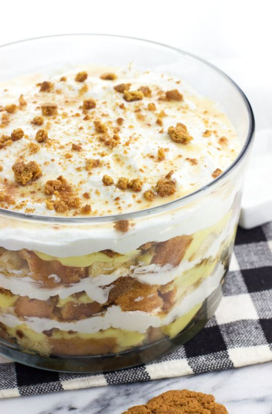 Salted Honey and White Chocolate Pound Cake Trifle #stabilizedwhippedcream Salte…