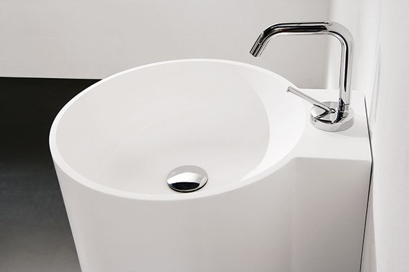 #washbasin in SolidSurface®. Tambo #bathroom collection by Inbani.