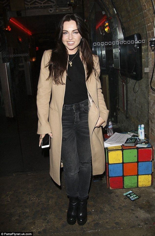 Showing some love: Actress Louisa Lytton also stepped out for the gig