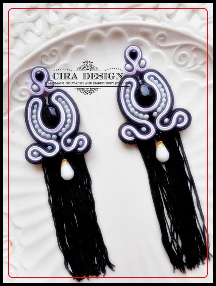 Soutache earrings by Cira Design Soutache.