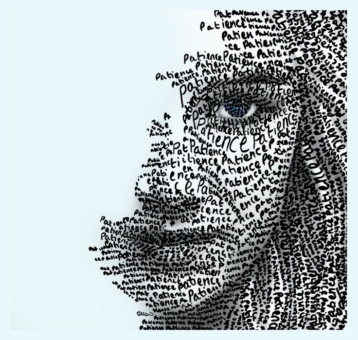 """jiliallen:  New word art x 'patience' x  nice! i love the meditation on """"patience"""" ….i could use to follow this example :)"""