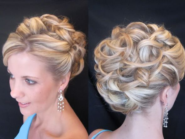 I like the curls and how they are positioned in back: Hair Ideas, Up Dos, Hairstyles, Wedding Hair, Bridesmaid Hair, Wedding Updo, Updos, The Bride, Hair Style