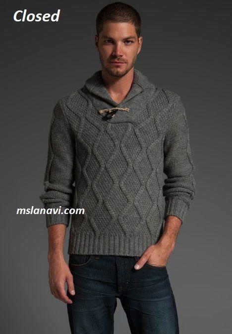 Мужской свитер для вязания спицами от Closed