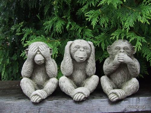 Awesome Gorgeous 3 Three Wise Monkeys Garden Ornaments I Got These