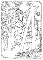 Coloring Page Alphabet Fairies Book PagesFlower