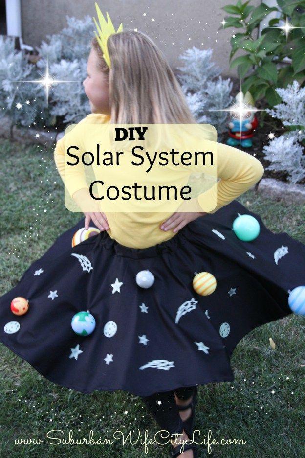 Solar System Halloween Costume DIY