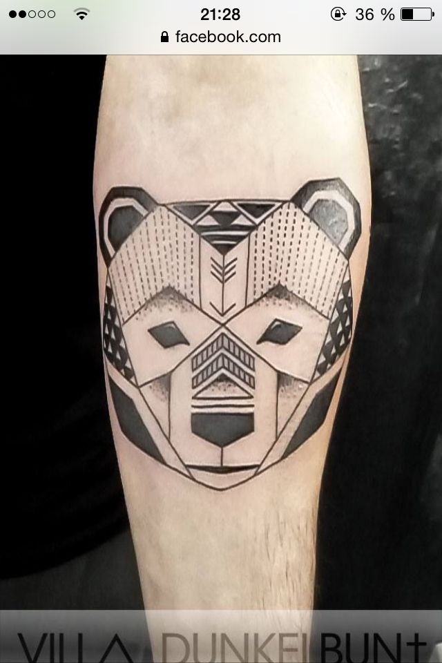 Geometric bear tattoo | Tattoo | Pinterest | Geometric ...