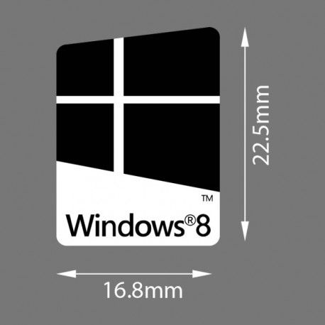 Windows 8 Eight Black Badge Sticker Computer Case Badge