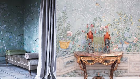 de Gournay wall coverings bring 18th century Chinoiserie & 19th century French design to the modern world.