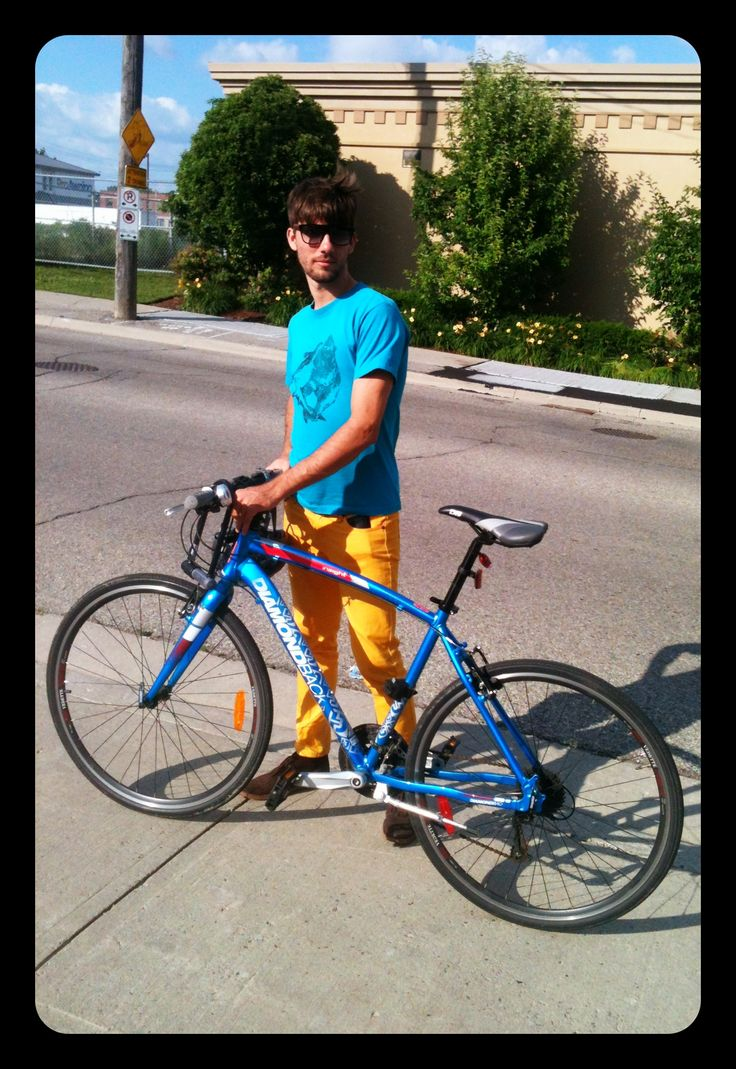 Colour blocked Brock #bicycle