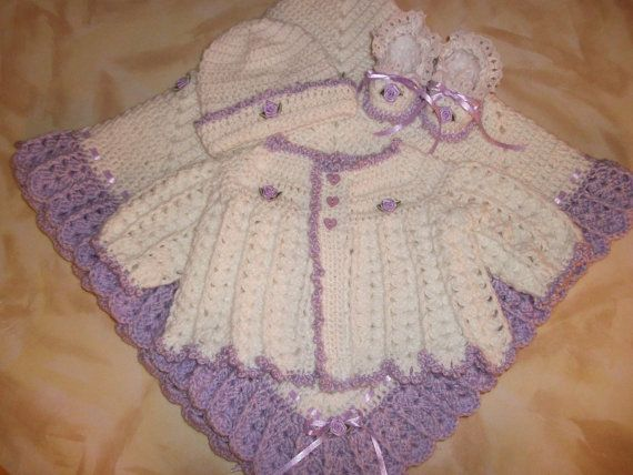 Pin by Bonnie Parsons on Crochet Baby Sweater Sets Pinterest