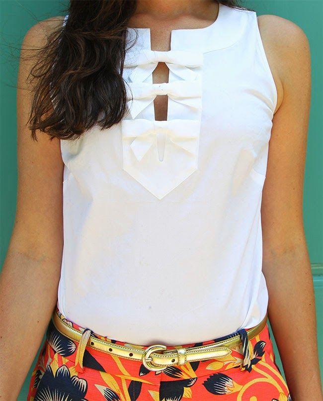 Vineyard Vines Bow Shirt (Classy Girls Wear Pearls)
