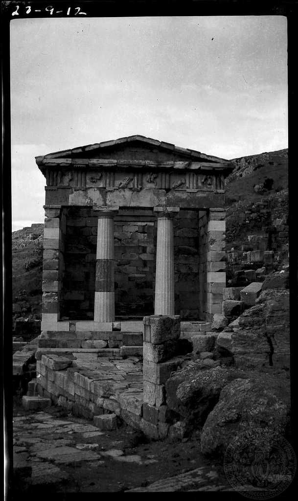 Delphi. Treasury of Athens. 	 Phocis Greece  1923   Dorothy Burr Thompson