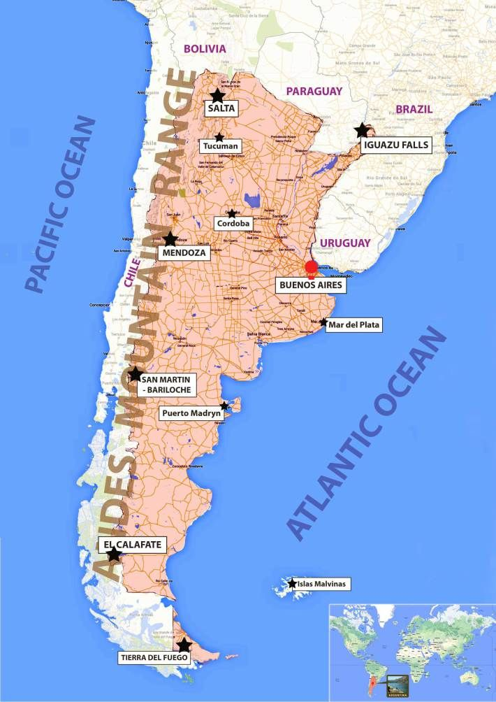 Best El Sur De America Images On Pinterest Cities Traveling - Map 0f argentina