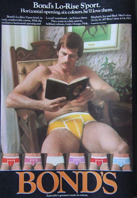 Bond's Lo-Rise Sport Briefs from Australia, 1970's