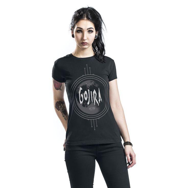 """Maglietta donna a maniche corte nera """"One Planet"""" dei #Gojira."""