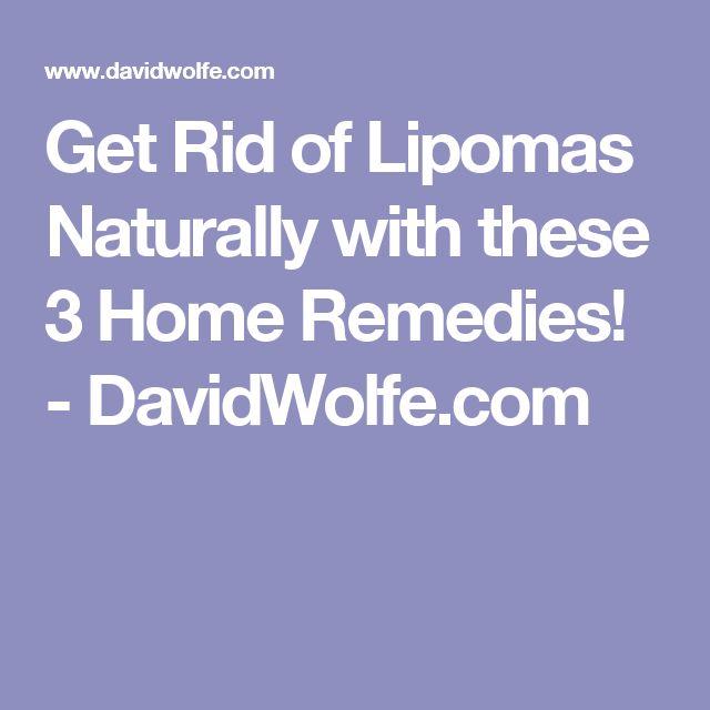 Naturally Get Rid Of Lipomas