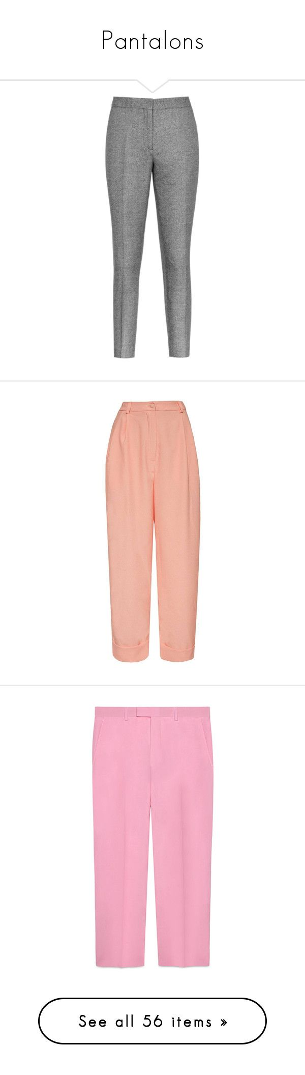 """""""Pantalons"""" by liligwada ❤ liked on Polyvore featuring pants, slim trousers, zipper trousers, zipper pants, zip pants, tailored trousers, boyfriend pants, button pants, viscose pants and red trousers"""