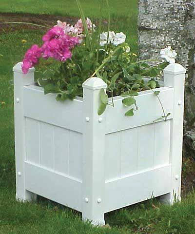 vinyl fence plant & accessory rail hanger - white - 6.5 extension 3