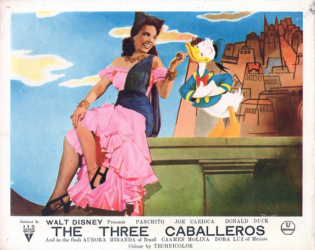 Os Quindins de Yaya - The BAIA Live/Animated Sequence - 1945    And In the Flesh: Aurora MIRANDA (of Brazil),   Carmen's Sister; Carmen Molina and Dora Luz of Mexico.