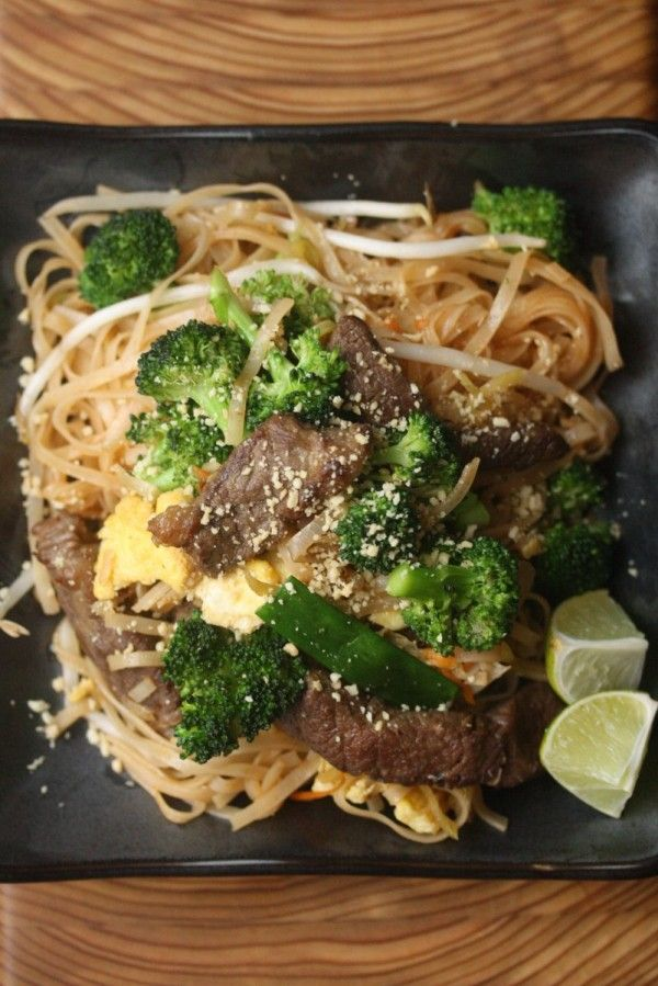 Easy Pad Thai Recipe with Beef and Broccoli   Feed Me Phoebe