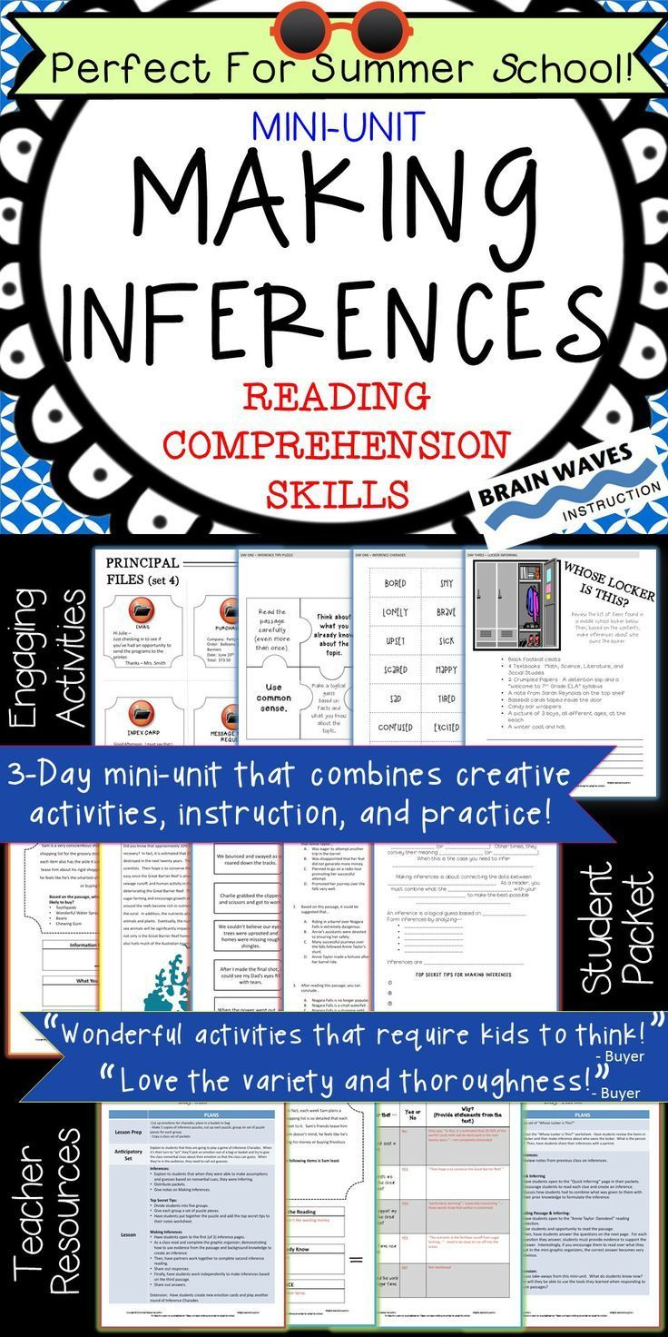 68 best secondary literacy strategies images on pinterest inferencing making inferences passages and activities for inferring fandeluxe Image collections
