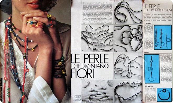 http://www.school-of-scrap.com/2013/tutorial-vintage-tante-collane-e-anelli-di-fiori-di-perline/