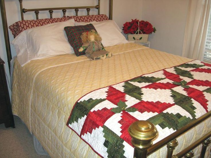 Looking for your next project? You're going to love Poinsettia Bed Warmer/ Table Runner by designer purejoypatterns.