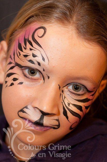 tijgers vlinder - Gerepind door www.gezinspiratie.nl #schminkspiratie #schmink #kids
