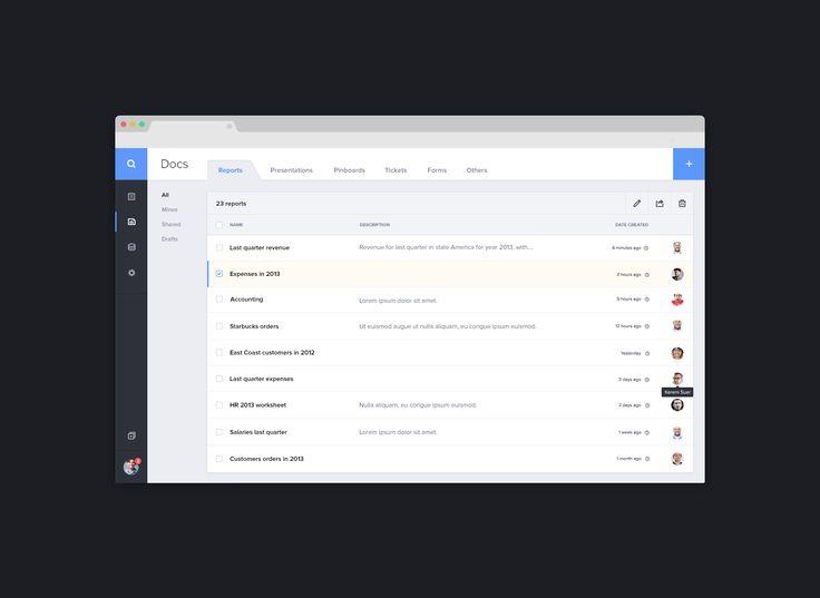 Document Management Dashboard Ui Flat Web App User
