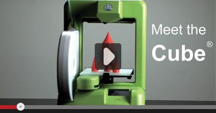 Cube 3D Printer Video - A home 3D printer for you. Starting at $1399.