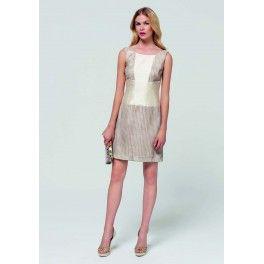 Vestido cintas cruzadas Laura Bernal. - Lucia Moda