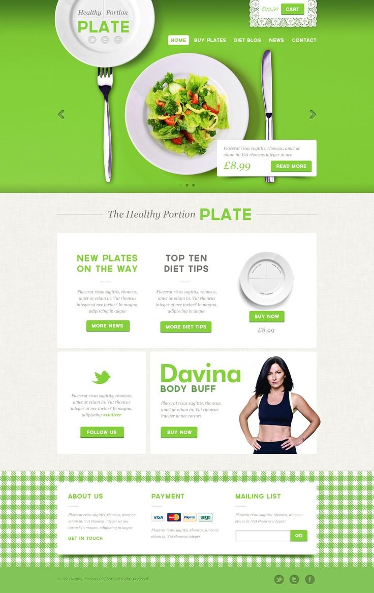 Healthy Portion Plate #web #webdesign #design #ui #website