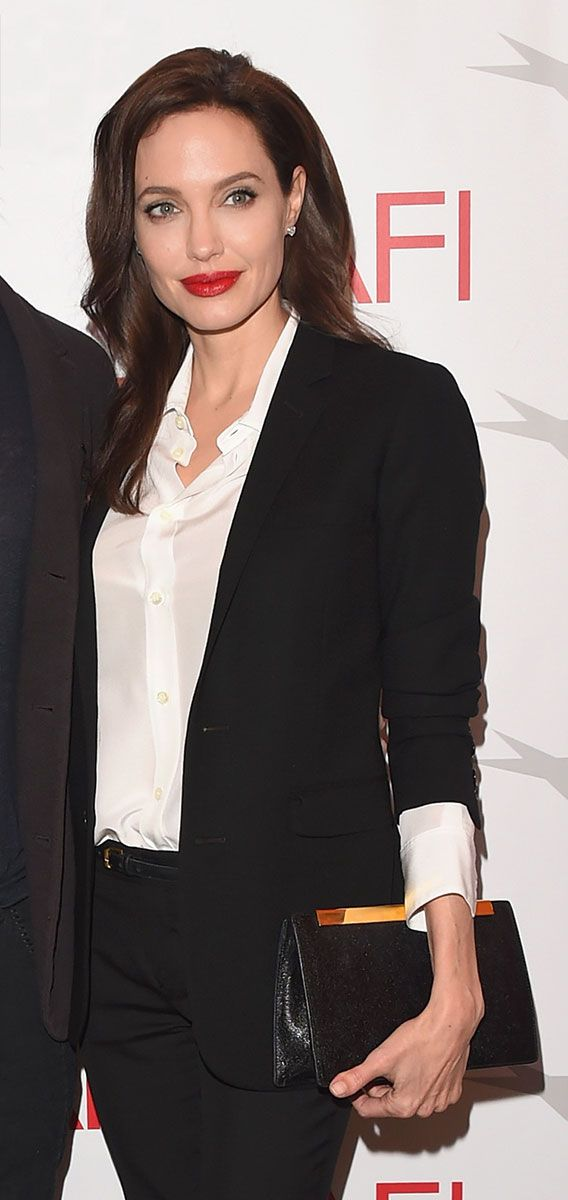 Angelina Jolie menswear-inspired