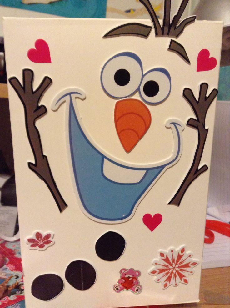 My adorable valentines box! #olaf #valentine #valentines #frozen