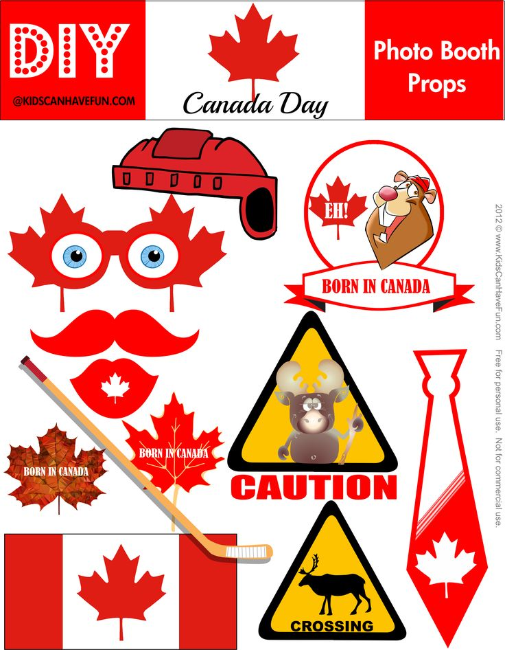 Canada Day Photo Booth Props