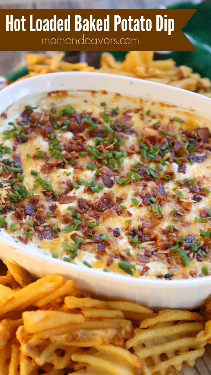 I'm so excited to share this hot loaded baked potato dip with you today! It's the perfect football food and sure to be a hit at any party! Mmmmmm! This dip is SO good! When you serve th…