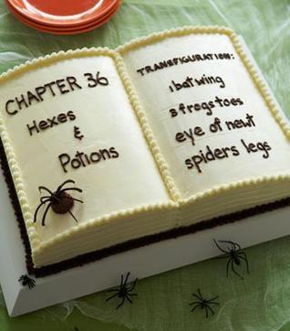 Spell Book Cake, pretzel wands