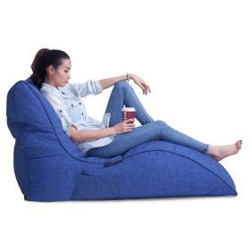 Avatar Sofa (Blue Jazz) - Home Cinema Bean Bag by Ambient Lounge | Designer Bean Bags Australia