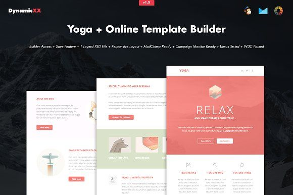 Yoga + Online Template Builder by DynamicXX on @creativemarket