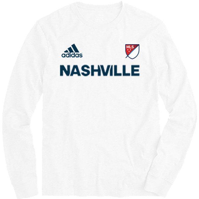 meet cdfe2 ca6c2 Men's adidas Nashville Soccer Club MLS Long Sleeve T-Shirt ...