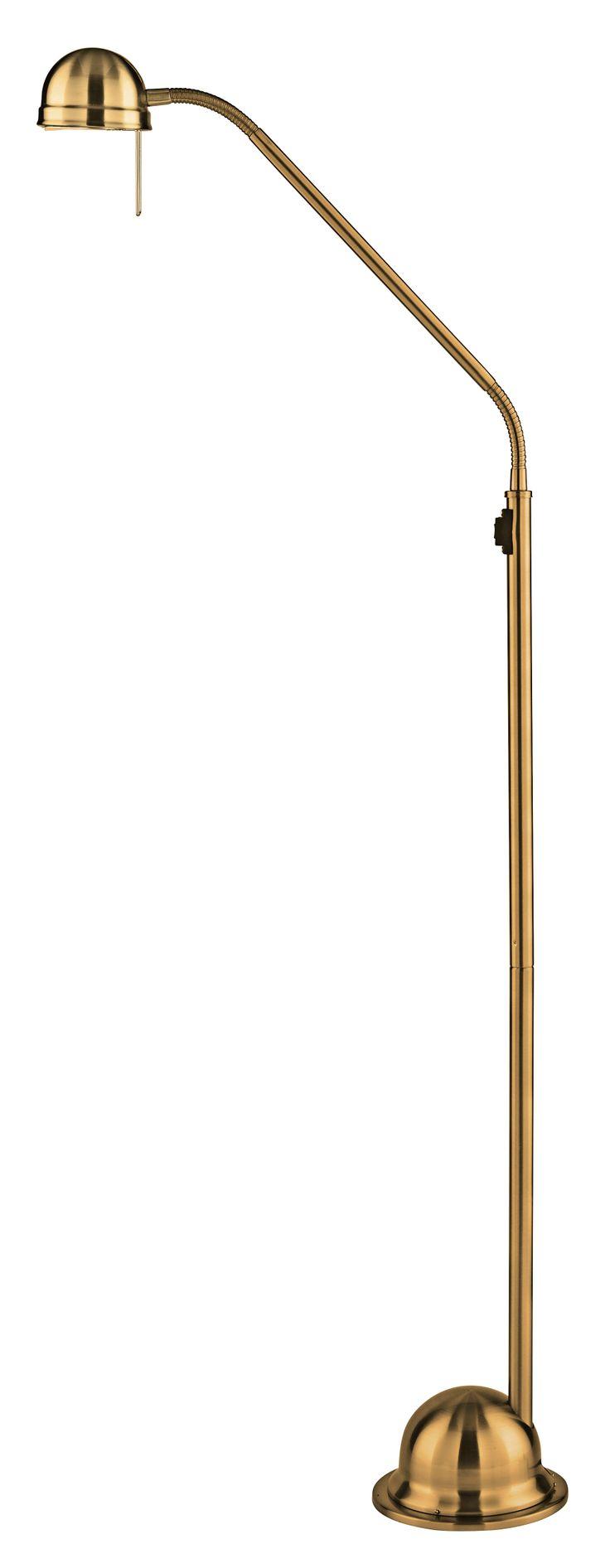 Rove Floor Lamp in Antique Brass