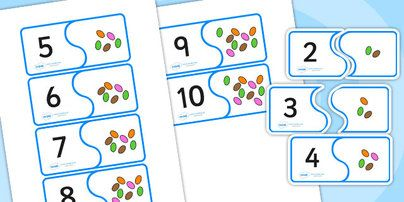 Jack and the Beanstalk Bean Number Matching Activity - jack and the beanstalk, number matching, number, matching, matching numbers, number b...