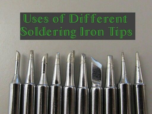 Uses of Different Soldering Tips