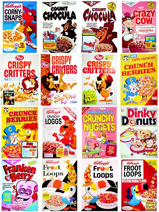 Vintage Cereal Boxes