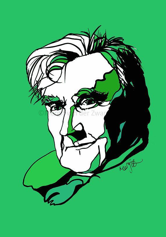 Ralph Vaughan Williams : handmade ink portrait. English